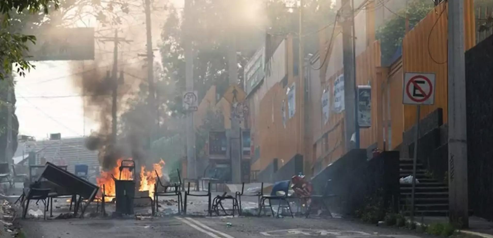 UNAM, interpone, denuncia, FGR, quema, mobiliario, CCH Sur, Colegio, Ciencias, Humanidades,