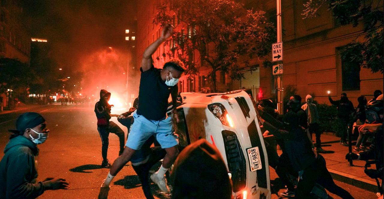 George, Floyd, Protestas, Violencia, Virginia, Consulado, Toque de Queda,