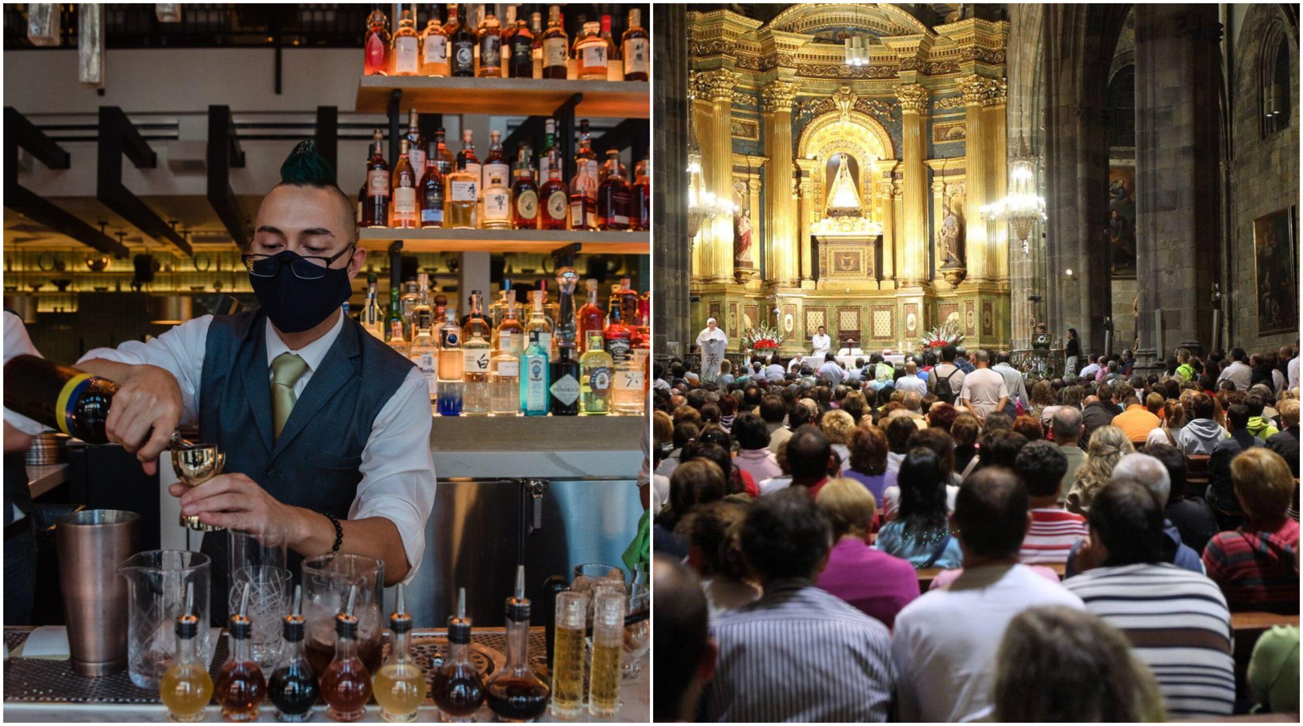 Por Covid-19 es igual de riesgoso ir a un bar que a un templo
