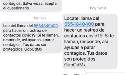 Gobierno de la CDMX envía mensajes para detectar contagios de Covid-19