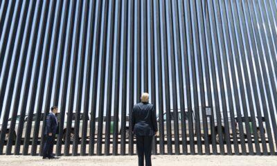 Presume Trump muro en vísperas de la visita de AMLO