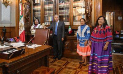AMLO recibe a candidatas indígenas a dirigir el Conapred