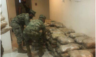 Semar y GN decomisan en BC cargamento de marihuana