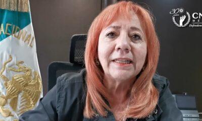 Rosario Piedra rechaza represión contra manifestantes en comisiones estatales de DH