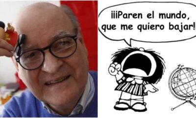 """Creador de Mafalda, Joaquín Lavado """"Quino"""", fallece a los 88 años"""