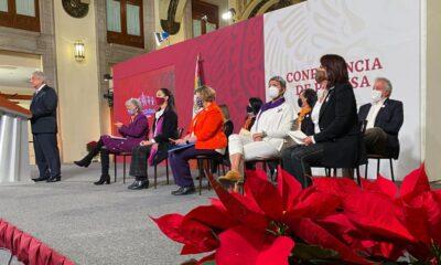 AMLO achaca violencia de género a neoliberalismo; Sánchez Cordero declara feminista a la 4T