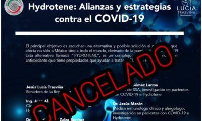 Cancelan foro del Senado para presentar 'producto milagro' contra Covid-19