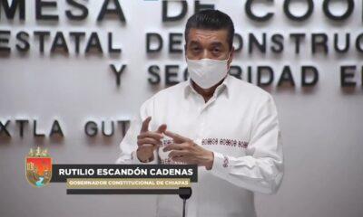 Gobierno de Chiapas alerta a la población por fuertes lluvias