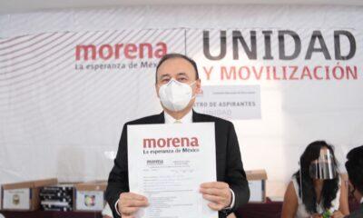 Alfonso Durazo se registra como precandidato por Sonora