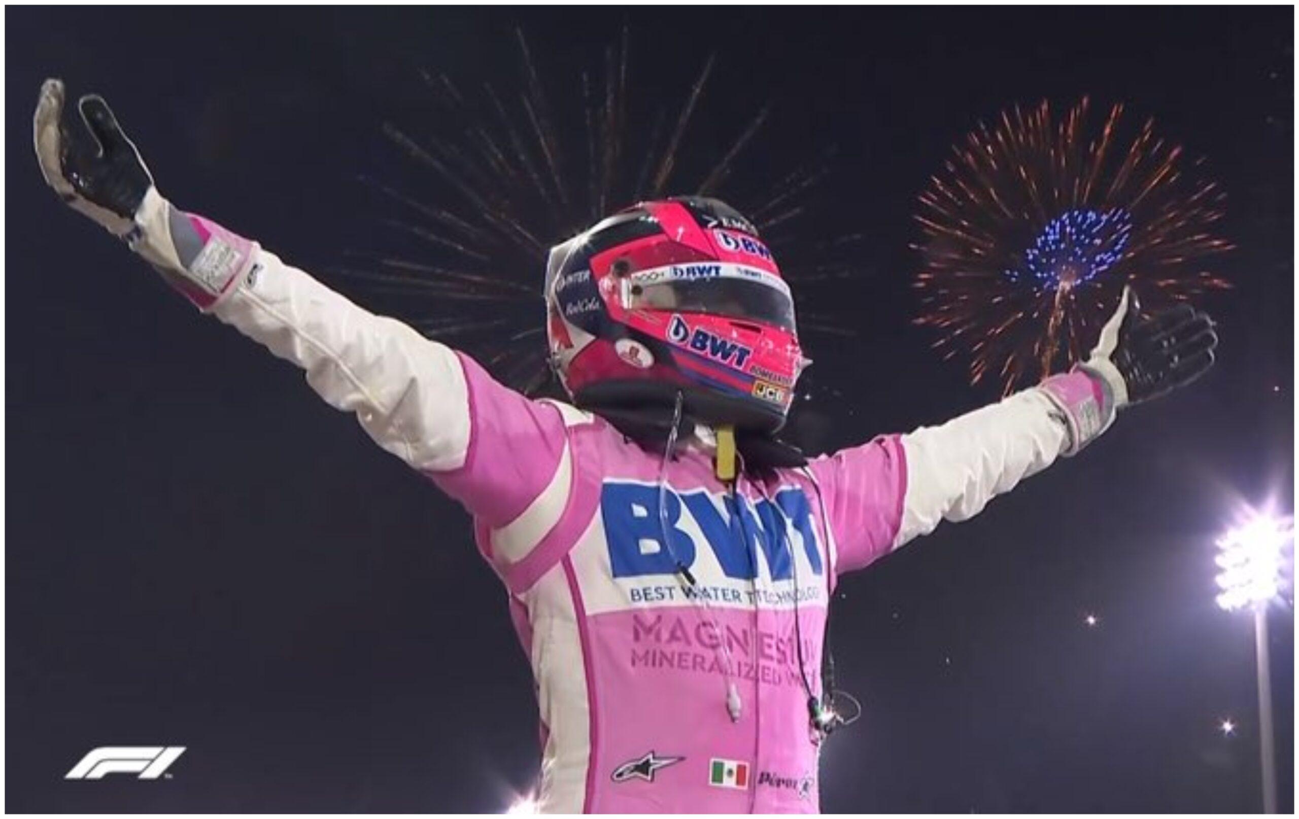 Checo Pérez gana el Gran Premio de Sakhir