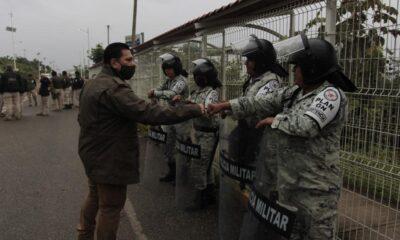 Para 'migración segura', INM, Sedena y CNDH resguardan frontera