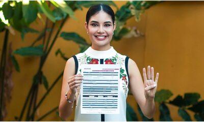 Registra Geraldine Ponce candidatura de Morena para presidenta municipal de Tepic