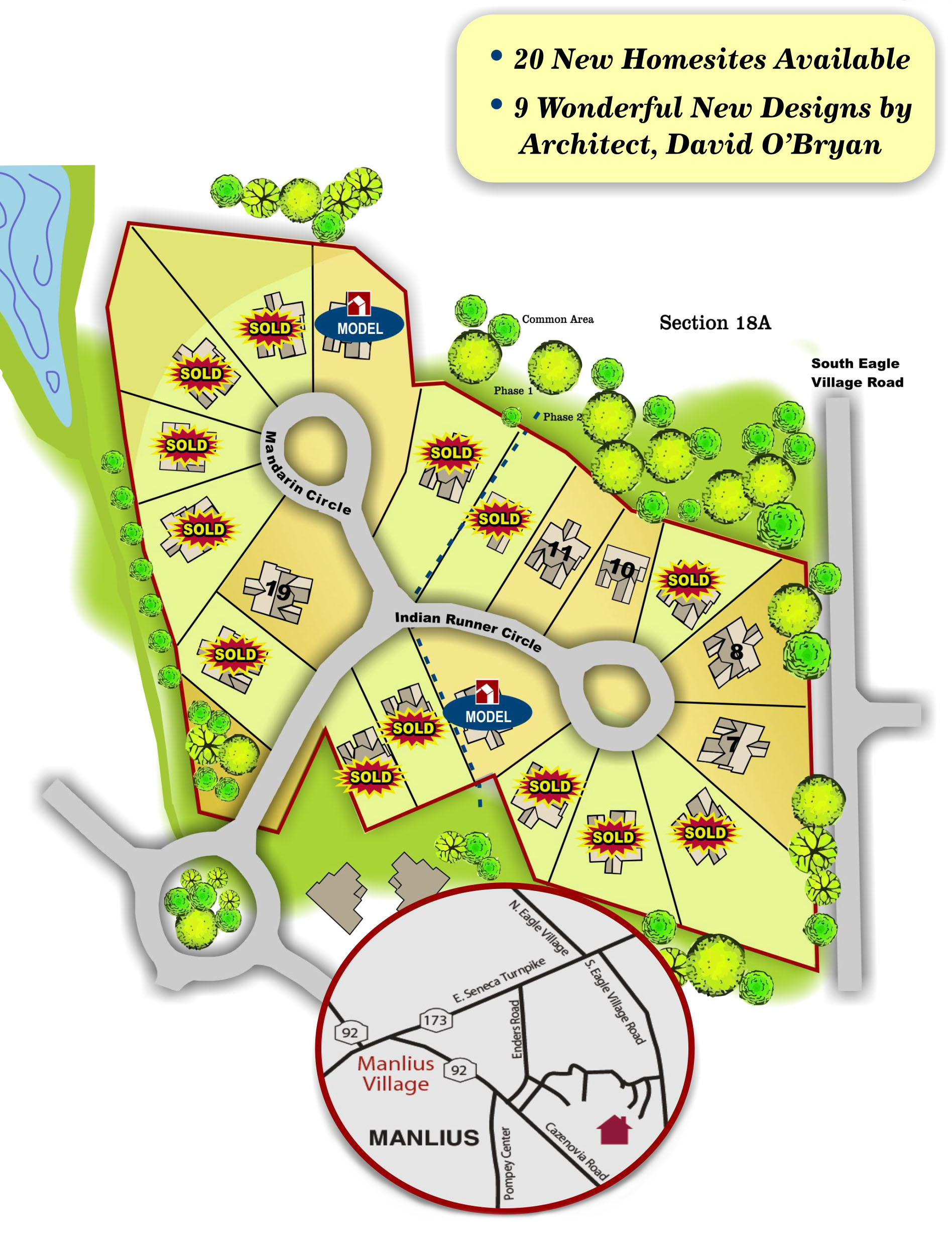 Map of the Bungalows at Mallard's Landing