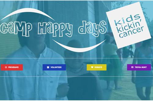 Camp Happy Days Website Design