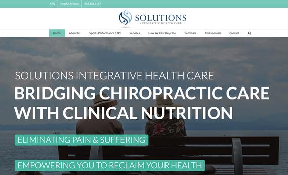 Solutions Integrative Healthcare Website Design