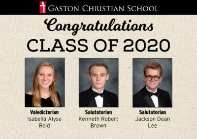 Valedictorian and Salutatorians