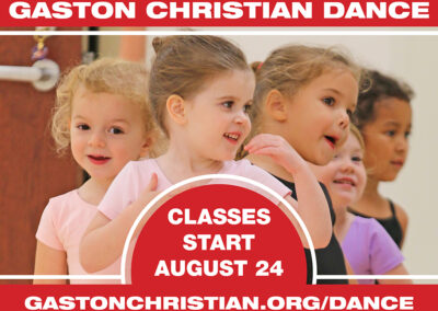 Gaston Christian Dance FALL 2020 Registration is OPEN