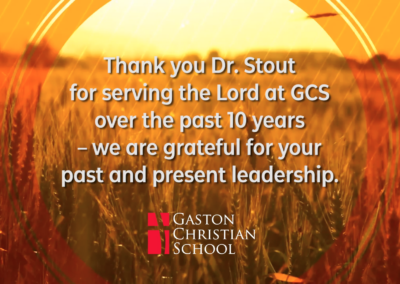 Thank You, Dr. Stout