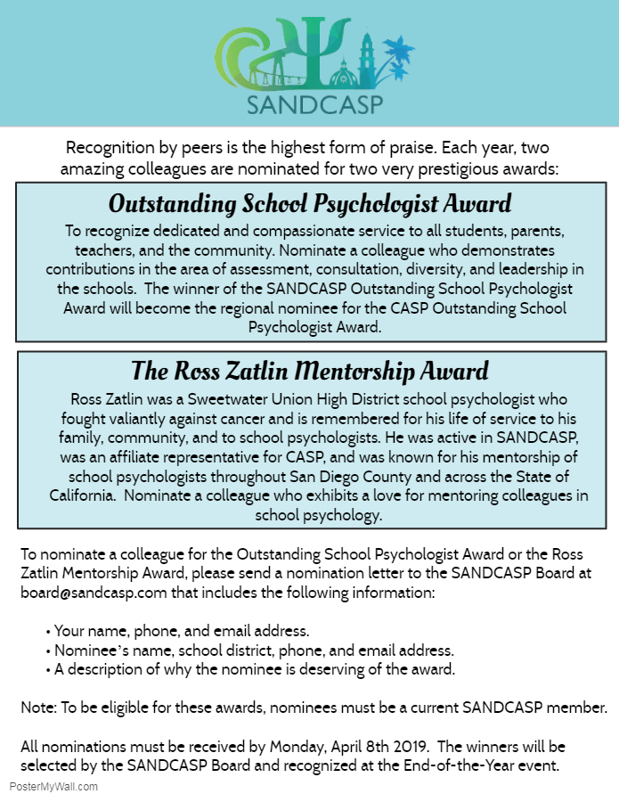SANDCASP Awards 2019 - Made with PosterMyWall
