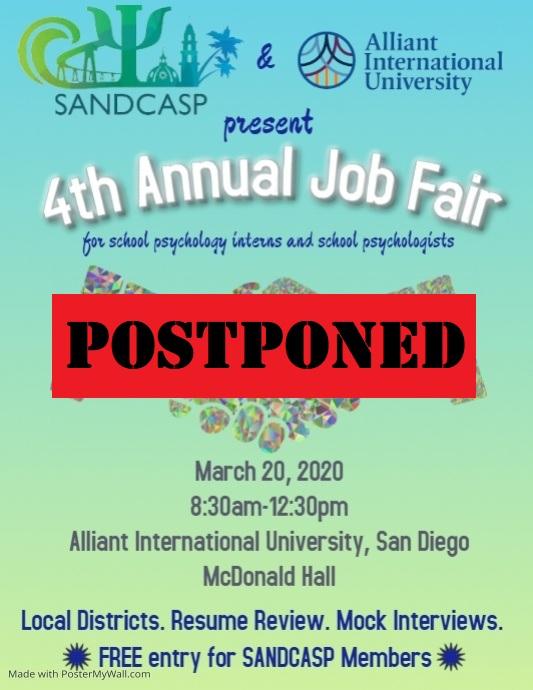 job fair postponed