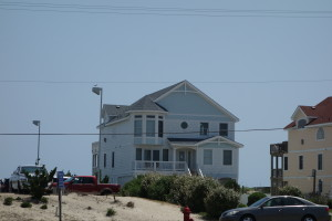 Our beach house rental! Front and center right on the beach! Gotta love it!