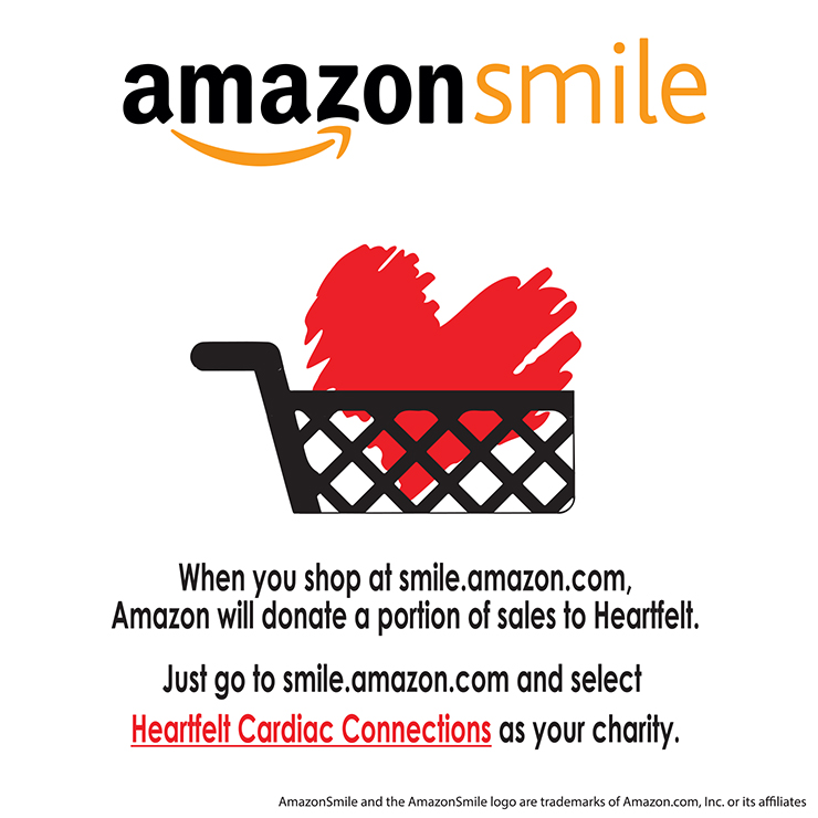 AMAZON SMILE HEART CART black