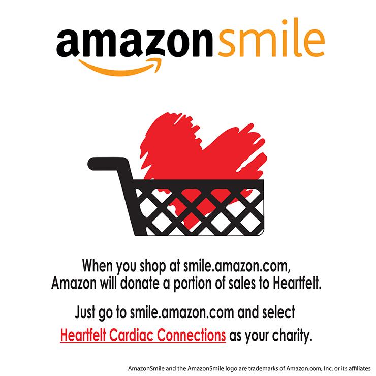 AMAZON SMILE HEART CART black