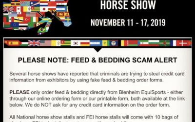 ATTENTION COMPETITORS: Feed & Bedding Scam Alert