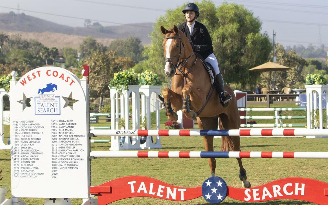 Emma Catherine Reichow Tops the Field in the 2019 Platinum Performance/USEF Show Jumping Talent Search Finals – West