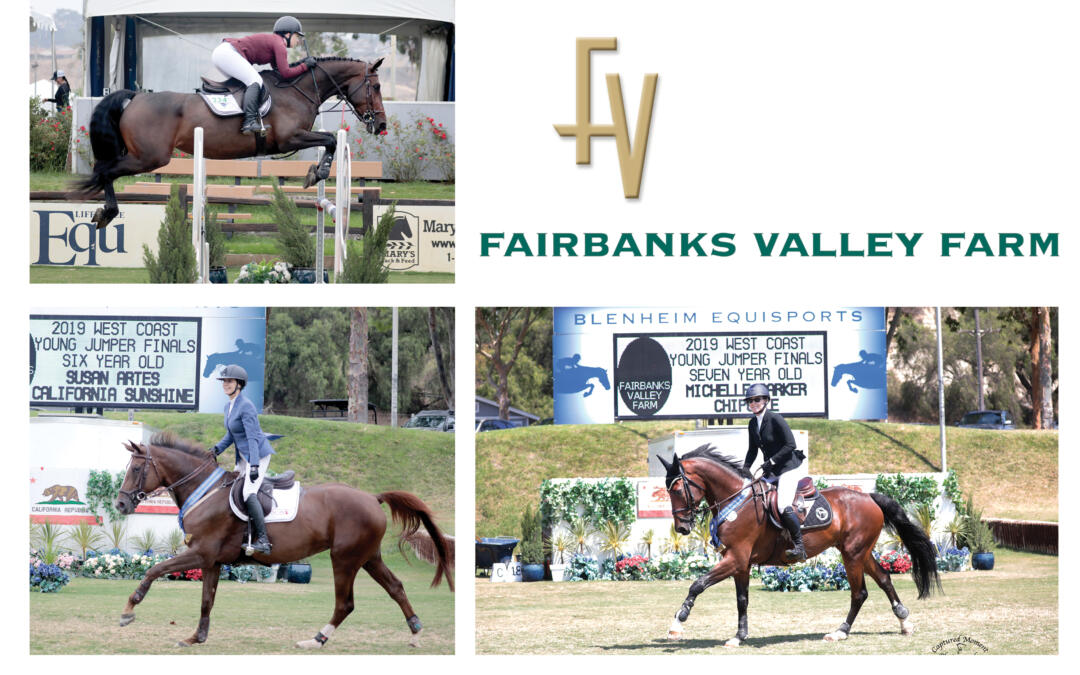 Three Champions are Crowned in the $45,000 Blenheim West Coast Young Jumper Series Finals, presented by Fairbanks Valley Farm