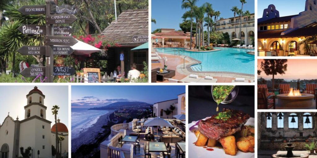 southern california dining and hotels