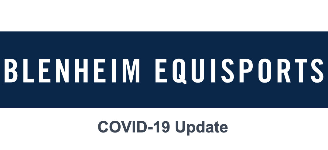 COVID-19 Update from Blenheim EquiSports – March 13, 2020
