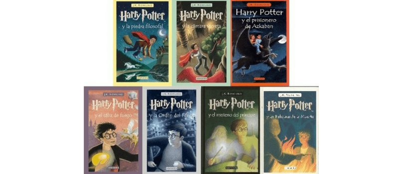 Harry Potter libros en español.
