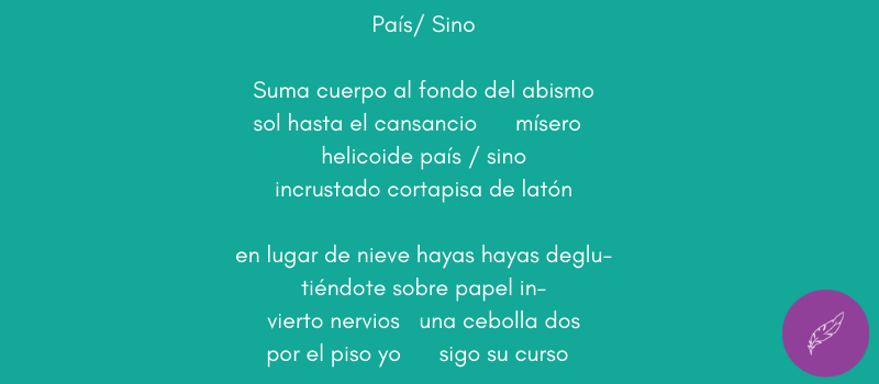 Poema de Geraldine Gutiérrez-Wienken