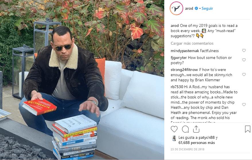 Libros que leerá Alex Rodríguez en el 2019