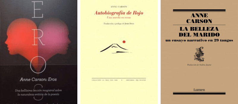Tres libros inolvidables de Anne Carson