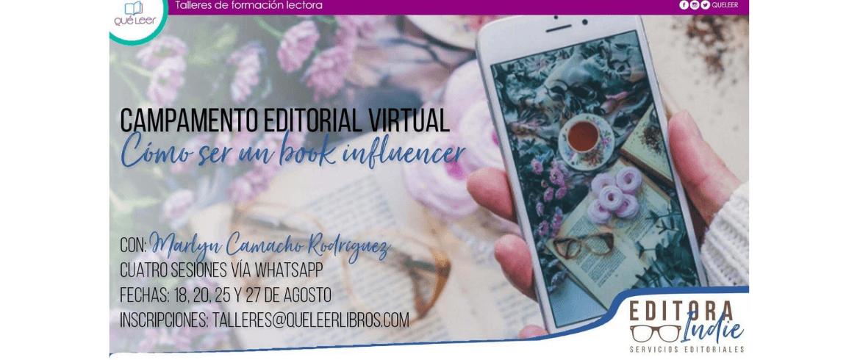 Campamento Editorial Online cómo ser un Book Influencer