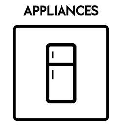 Appliances Icon With Text