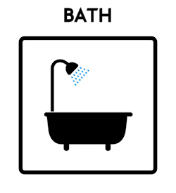 Bath Icon With Text