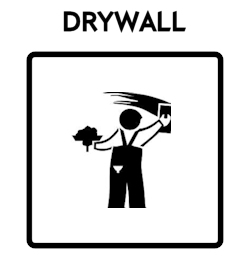 Drywall Icon With Text
