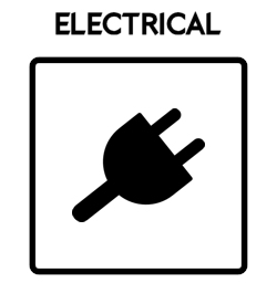 Electrical Icon With Text