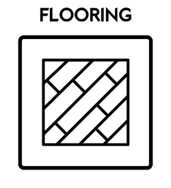Flooring Icon With Text