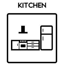 Kitchen Icon With Text