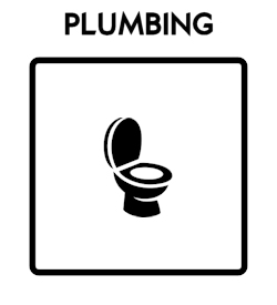 Plumbing Icon With Text