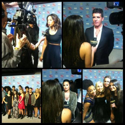 Interviewing Coaches at The X Factor USA