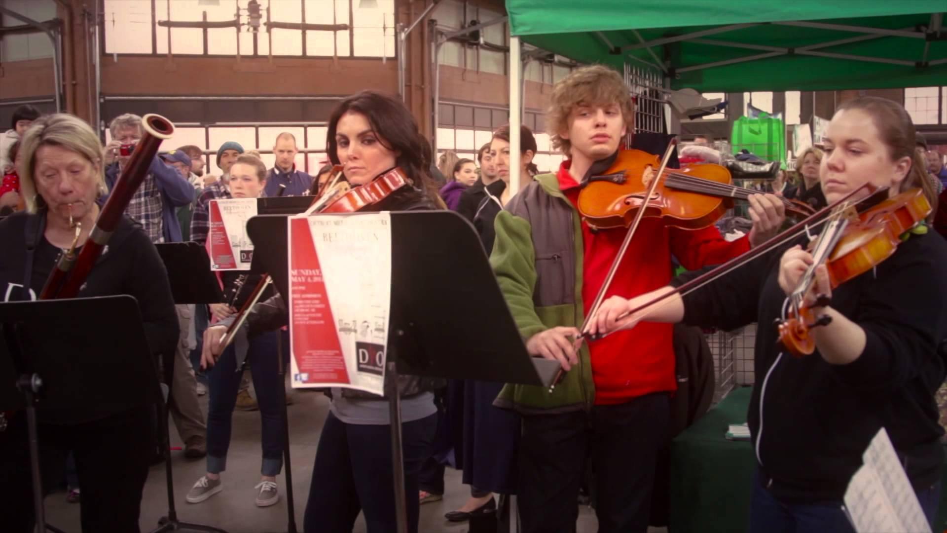 Detroit Medical Orchestra   Eastern Market Flashmob