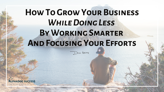 Grow Your Biz Faster With Focused Efforts