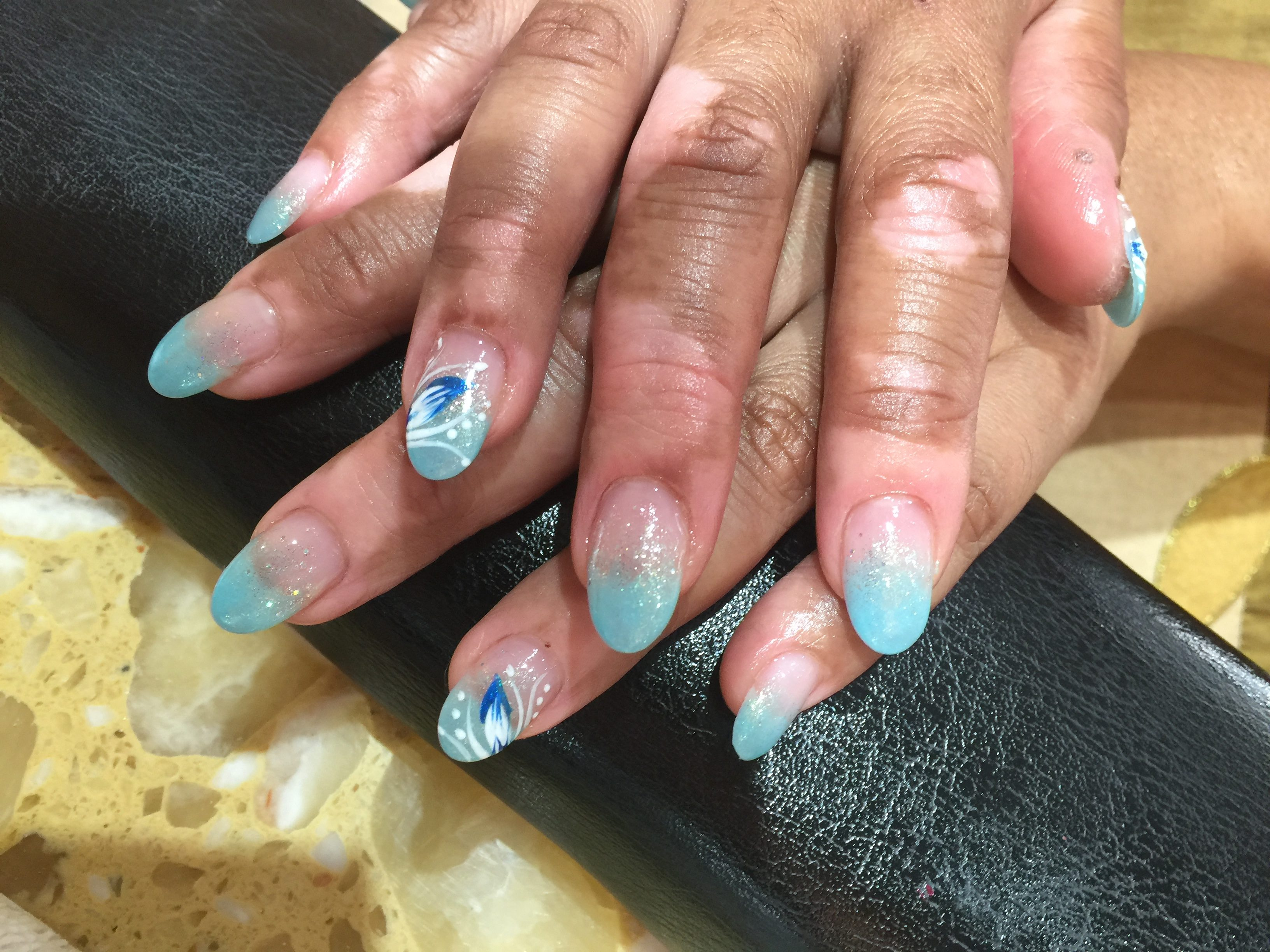 Powder Blue Nails