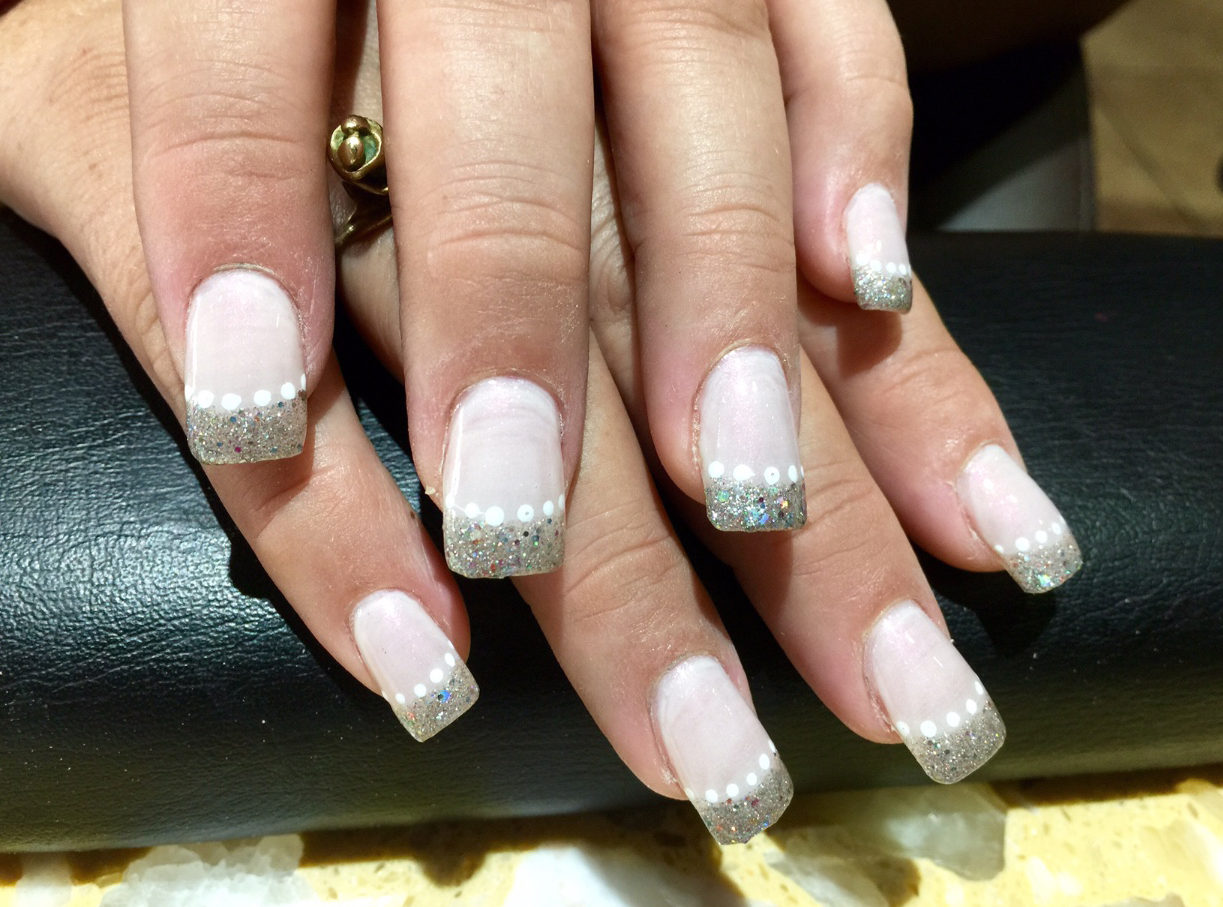 Acrylic Silver Tip Nails