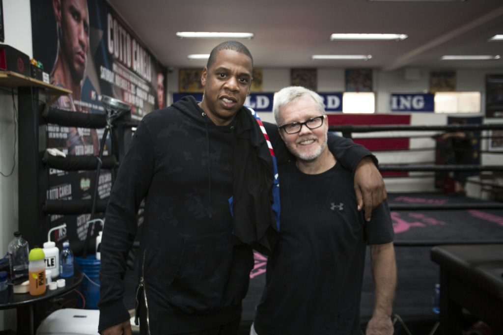 Jay Z and Freddie Roach at Wild Card Boxing Gym